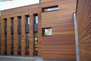 Фасад из термидревесины